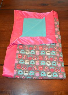 flannel blanket with satin binding tutorial.