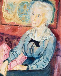 "huariqueje: "" Portrait of Viveka Stiernstedt - Isaac Grünewald , 1918 Swedish, Oil on canvas 82 x 65 cm. Henri Matisse, Art Station, Jewish Art, Traditional Art, Painting Inspiration, Female Art, Photo Art, Oil On Canvas, Modern Art"