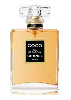 Coco Eau de Parfum by Chanel: Top notes are coriander, , mandarin orange, peach, jasmine and bulgarian rose; middle notes are mimosa, cloves, orange blossom, clover and rose; base notes are labdanum, amber, sandalwood, tonka bean, opoponax, civet and vanilla.