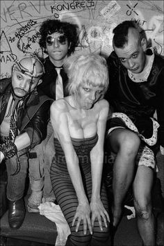 Wendy O. Williams and The Plasmatics backstage at CBGB, 1979
