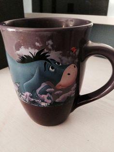 "Disney Store Large EEYORE Mug ""High Hopes and Low Expectations"" Pooh EUC"