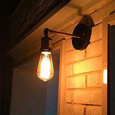 Amazon | Filsae ブラケットライト ウォールライト 玄関ライト アンティーク調 北欧 レトロ おしゃれ E26口金 角度調整可 スポットライト 居間照明 壁掛け照明/壁付け照明 門灯 外灯 インテリア 室内 電球無し 照明器具 可愛い (銅色, 1個) | Filsae | ブラケットライト