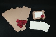 Make 12 Handmade Card Kit Kraft Rustic Prima Flowers Layers White Mats A2 Size by shabbybeautiful, $10.99 USD