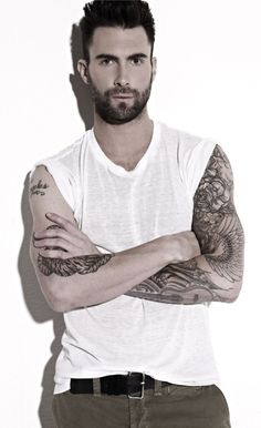 Adam Levine - Click image to find more Celebrities Pinterest pins