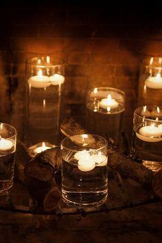 Elegant Gold Winter // white floating candles