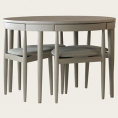 Round Table With Four Chairs Three Legs Space Saver Chelsea Textilessmall Kitchen Tablessmall