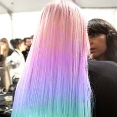 bright ombre hair