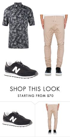 """Untitled #37"" by rebecca-wengle on Polyvore featuring New Balance, I Love Ugly, Lanvin, men's fashion and menswear"