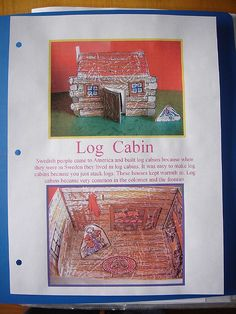 log cabin notebooking page by jimmiehomeschoolmom, via Flickr