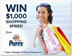 Inside My Head..: Get a Clean Start this New Year ~ @Purex #Sweepstakes! ~ Enter to win $1000 Shopping Spree PLUS...