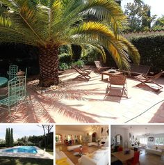 Very beautiful, bright and colorful villa in Saint-Tropez for rent. This is a wonderful comfortable house surrounded by a garden. Staying here you will get extremely pleasant experience of vacations on the French Cote dAzur.