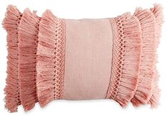 Peri Home Chenille Lattice Fringe Oblong Throw Pillow in Blush Cricut, Accent Pillows, Bed Pillows, Pink Throw Pillows, Bed Linens, Blush Throw Pillow, Blush Pillows, Ruffle Pillow, Bolster Pillow