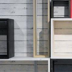 Boxserie™ - hyllykkö ja lokerikko, kasvava monikäyttöinen kalustesarja
