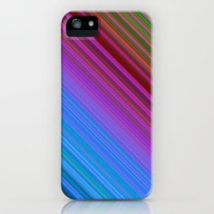 Stripes multicolored no. 1 iPhone & iPod Case by Christine baessler - $35.00
