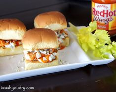 Grilled Buffalo Chicken Sliders!