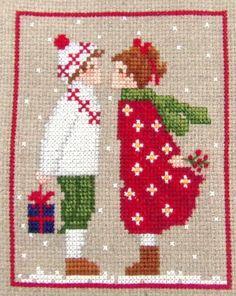 Cross Stitch Christmas Cards, Xmas Cross Stitch, Cross Stitch Love, Cross Stitch Needles, Christmas Cross, Cross Stitching, Cross Stitch Embroidery, Cross Stitch Sampler Patterns, Cross Stitch Samplers