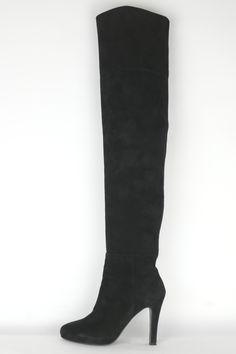 Unnützer Overknee Boot black suede