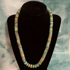TURQUOISE NECKLACE HANDCRAFTED by SOUTHWESTERN ARTISANS REAL TURQUOISE 19.5 in Accessories