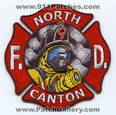 North Canton Fire Department Dept FD Rescue EMS Patch Georgia GA Patches NEW