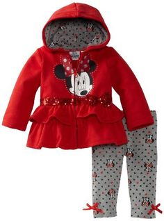 Disney Baby-Girls Newborn 3 Piece Knit Hooded Jacket And . Little Girl Outfits, Kids Outfits Girls, Cute Outfits For Kids, Toddler Girl Outfits, Toddler Pants, Disney Baby Clothes, Cute Baby Clothes, Baby Disney, Storing Baby Clothes