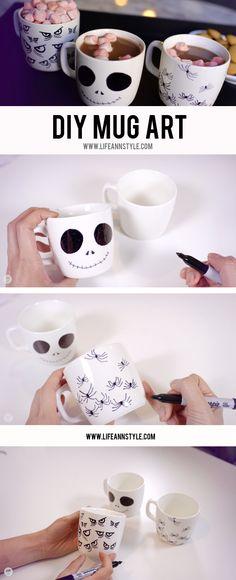 DIY Halloween MUG w/ Sharpie