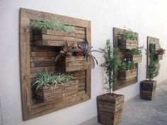 41 Diy Creative Vertical Garden Wall Planter Boxes 79 How to Diy Vertical Wall Garden Planter 6 Old Pallets, Recycled Pallets, Wooden Pallets, Recycled Wood, Wooden Pallet Wall, Pallet Wall Decor, Diy Pallet, Pallet Ideas, Wood Wall