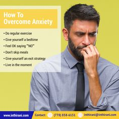 Tips To Overcome Anxiety Overcoming Anxiety, Regular Exercise, Bedtime, Stress, Healing, In This Moment, Sayings, Tips, Lyrics