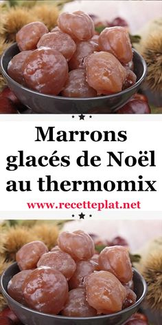 Christmas candied chestnuts with thermomix - - Fancy Desserts, Delicious Desserts, Dessert Recipes, Yummy Food, Vegetarian Crockpot Recipes, Chicken Recipes, Longest Recipe, Cuisine Diverse, Thermomix Desserts