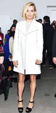 Look of the Day - February 22, 2015 - Sienna Miller in Calvin Klein Collection from #InStyle