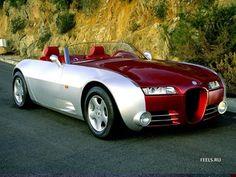 ♂ Luxury car Bugatti Curara Cardi silver and red