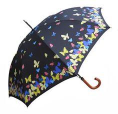 Auto open butterfly umbrella with color changing feature when wet, plus Free U.S. Shipping on all butterfly gifts!