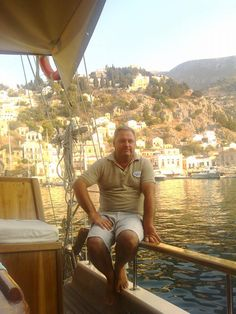 Happy birthday to our captain Recep Mazi of our 8 person yacht Tifil :-). Here waiting for his new guests to embark from Symi, Greece, last Sunday. Still one of our favorite Greek islands :-). Have a super day Recep from all of us :-)