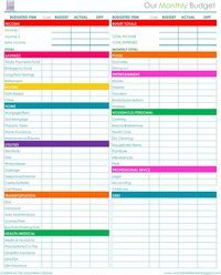 Financial Planner Free Printable  Monthly Budget Debt And