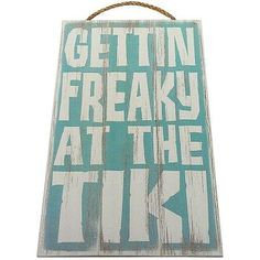 Amazing offer on Gettin Freaky The Tiki Vintage Wood Sign Tiki Bar Wall Decor Or Gift - Perfect Tiki Tiki Bar Signs, Tiki Bar Decor, Barbacoa, Outdoor Tiki Bar, Outdoor Bars, Kitchen Wall Design, Vintage Wood Signs, Vintage Metal, Vintage Industrial