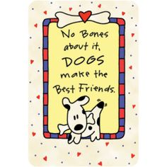 Edible Rawhide Best Friends Dog Greeting Card Pet Shop Dogs Your