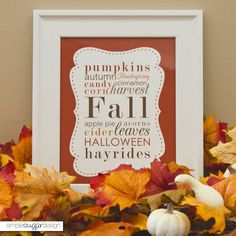 Free Fall Printable - download for free and frame - easy, inexpensive art