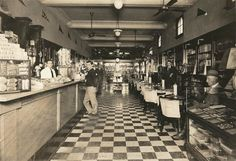 The inside of Fishburne Drug Store in its heyday.