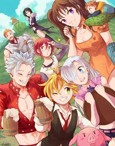 Nanatsu no Taizai Poster Print - Everything About Anime Seven Deadly Sins Anime, 7 Deadly Sins, Otaku Anime, Manga Anime, Anime Art, Tous Les Anime, Stuffed Animals, Seven Deady Sins, Naruto