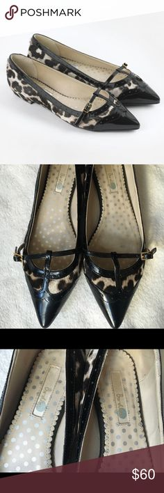 Boden Darcie Point Leopard print flats, size 39 Super cute Boden pony hair leopard print flats, excellent condition.  Size 39 Boden Shoes Flats & Loafers