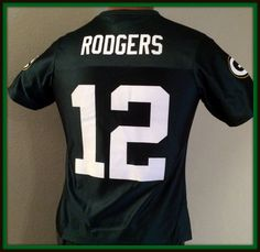 AARON RODGERS GREEN BAY PACKERS WOMENS SMALL NFL TEAM APPAREL REPLICA JERSEY   #NFLPROPERTIES #GreenBayPackers
