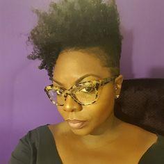 Tapered natural hair- @cassij_mua