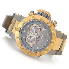 "Invicta 50mm Subaqua Noma III ""Shark Edition"" Swiss Made Silicone Strap Watch w/ 8-Slot Dive Case ShopHQ.com"