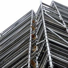 Lines, scaffolding, construction, verticality, urban, city, metal,
