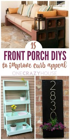 Sitting on the front porch has to be one of the most relaxing things in the world. If you don't spend enough time on yours, get out there! Time just seems to move a little slower when you're sitting and enjoying the outdoors. If your outdoor space needs a little sprucing up, try a few of these front porch DIYs. They'll improve your home's curb appeal and make your porch time so much more enjoyable.