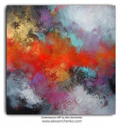 Abstract Painting straight from the artist's studio /