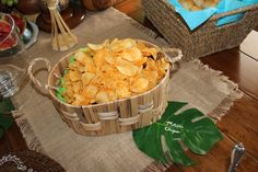 Set of 5 Hawaiian Luau Party Palm Leaf Food Labels on Etsy, $15.00