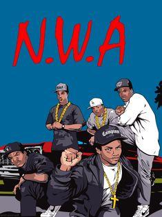NWA is my favorite rap group Arte Do Hip Hop, Hip Hop Art, Hip Hop And R&b, 90s Hip Hop, N.w.a Rap, Nwa Compton, Estilo Hip Hop, Straight Outta Compton, Rap Wallpaper