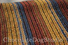 Crochet afghan Pattern Easy crochet stripe by ChocolateDogStudio