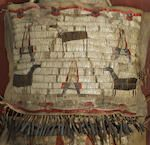 A rare and early Sioux quilled cradle and doll