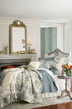 Beautiful - ERS38 ~ NAS38 ~ Blissfully Blue and White Bedroom ~ Céleste ~ Celestial ~